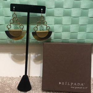 Silpada gold earrings